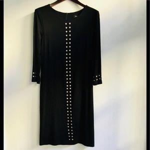 Karen Kane studded black knit dress, size L